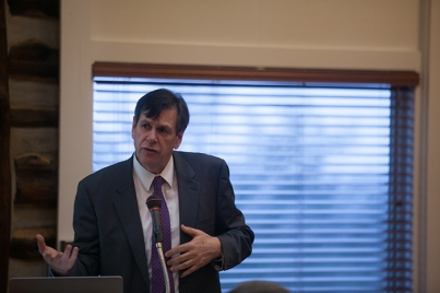 Dr. Orlando Kelm presented the Department of Modern Languages' Hatcher Lecture on March 2.