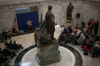 The 2016 induction ceremony for the Gov. Louie B. Nunn Kentucky Teacher Hall of Fame was held March 15 at the Capitol Rotunda in Frankfort.