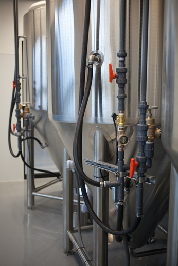 Work continues on a brewery installation at WKU's Center for Research and Development.