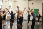 Guest artist Jon Lehrer conducted a dance class on March 18.