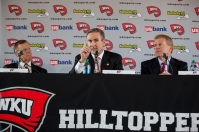 WKU introduced Rick Stansbury as Hilltopper basketball head coach on March 28. (WKU photos by Clinton Lewis)