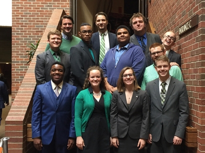 Members of the WKU Forensics Team competed in the 50th Pi Kappa Delta National Tournament on March 18-20.
