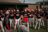 U.S. Sen. Rand Paul and WKU President Gary Ransdell visited the WKU Baseball team for practice on March 30.