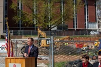 A groundbreaking ceremony for Ogden College Hall was held April 5.