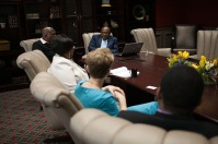 Representatives of University of Limpopo in South Africa visited WKU on April 13.