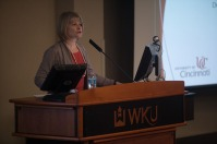 Tiina Reponen presented a lecture on April 13.