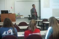 Matt Sauber presented a lecture on April 14.