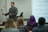 Matt Sauber presented a lecture on April 14.