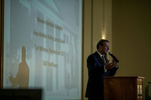 Carl Whitmer, Chief Executive Officer of IASIS Healthcare in Nashville, spoke April 21 as part of the annual Hays Watkins Visiting CEO Speaker Series.