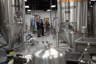 The WKU Board of Regents toured the brewery at the Center for Research and Development on April 22.