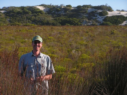 Dr. T. Keith Philips in the De Hoop Nature Preserve, West Cape Province, South Africa. (Photo by Linda Gerofsky)