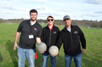 Concrete bowling ball competition: Zach Thorpe, Jonathan Turner, and Mohmoud Alfailakawi (Mohammed Alajmi not pictured).
