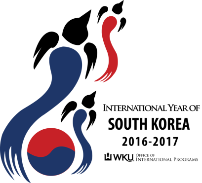 The official logo of the International Year of South Korea was designed by WKU student Sierra Billingsley and selected by campus and community voters.