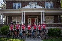 Members of WKU's Fiji fraternity will begin the 2016 Bike4Alz ride this month in Seattle. (WKU photo by Bryan Lemon)
