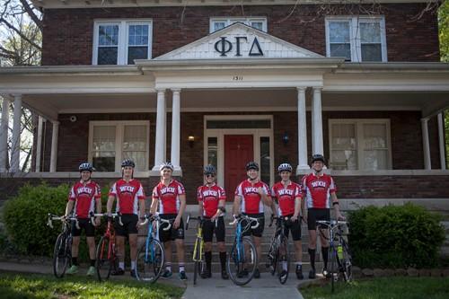 Members of WKU's Fiji fraternity will begin the 2016 Bike4Alz ride this month in Seattle. (WKU photo by Bryan Lemon)