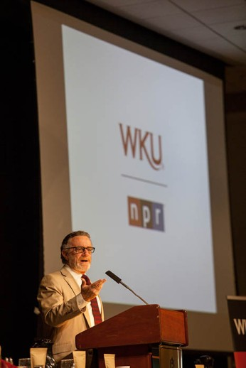 NPR President and CEO Jarl Mohn was the featured speaker April 29 at the Bowling Green Area Chamber of Commerce Coffee Hour, presented by WKU Public Radio.