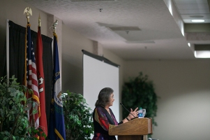 Letitia Henley Kirk, Elvis Presley's private nurse, was the Society of Lifelong Learning Food for Thought series speaker on May 11.