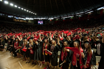 WKU's 179th Commencement concluded with three undergraduate ceremonies on May 14. (WKU photo by Clinton Lewis)