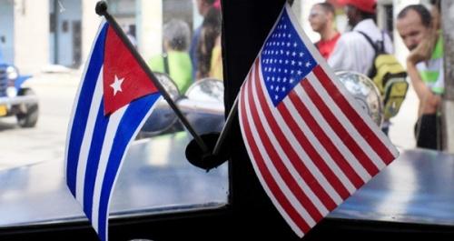 Cuba & US Flag image