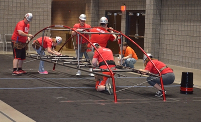 WKU's steel bridge team qualified for the National Student Steel Bridge for the fourth consecutive year. The team will compete in the national event on May 27-28 at Brigham Young University.