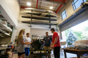 WKU's concrete canoe team prepared to leave Bowling Green for Tyler, Texas, on June 7. The 2016 concrete canoe national competition begins June 9. (WKU photo by Clinton Lewis)
