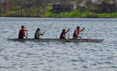 WKU's concrete canoe team won the Ohio Valley Student Conference earlier this spring to advance to the 2016 national competition June 9-11 at the University of Texas at Tyler.