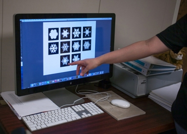 In two experiments, participants evaluated the perceived beauty of snowflake silhouettes created from photographs of natural snowflakes and the perceived beauty of computer-generated solid objects.