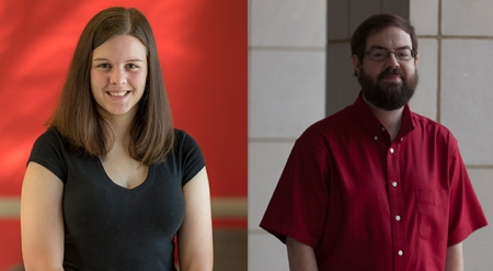 WKU graduate student Olivia Adkins (left) and Dr. Farley Norman