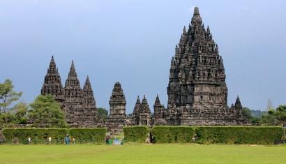 Prambanan Hindu temple complex in Java, Indonesia.