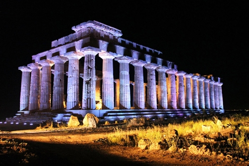 The Temple of Hera at Selinunte, Sicily.