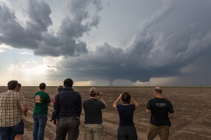 WKU Storm Chase participants documented a storm near Dodge City, Kansas, on May 24, 2016. (Photo courtesy of Josh Durkee)