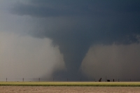 Tornado near Dodge City, Kansas, on May 24, 2016. (Photo courtesy of Josh Durkee)