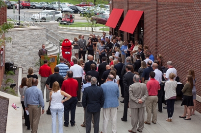 WKU dedicated the State Farm Courtyard on Aug. 11. (WKU photo by Clinton Lewis)