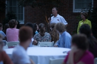 Gatton Academy students gathered at the President's Home for an ice cream social on Aug. 15.