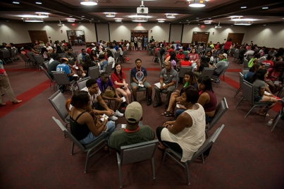 Member's of the Class of 2020 participated in the Students of Color Social on Aug. 15.