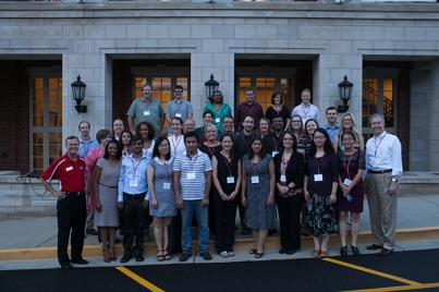 New faculty gathered on Aug. 16.