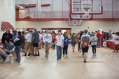 The Campus and Community Involvement Fair was held Aug. 18.