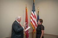 New WKU Regent Julie Hinson was sworn in on Aug. 19.