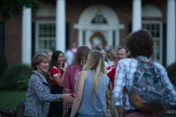 Members of the Honors College at WKU gathered at the President's Home on Aug. 22.