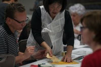 Visiting artist Wonju Seo conducted a Korean Bojagi Workshop Aug. 26 at the Kentucky Museum.