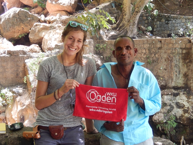 WKU geology student Deborah Flynn conducted undergraduate research this summer on the Ethiopian Plateau, Ethiopia.