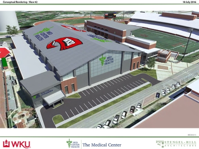 Med Center Health and WKU announced that the hospital will begin construction of the Med Center Health Sports Medicine Complex on WKU's campus.