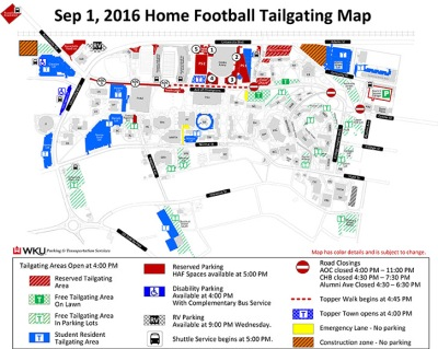 tailgating map sept 1