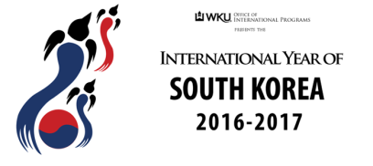 WKU is celebrating the International Year of South Korea during 2016-17. To view the calendar of events, visit http://www.wku.edu/iyo/