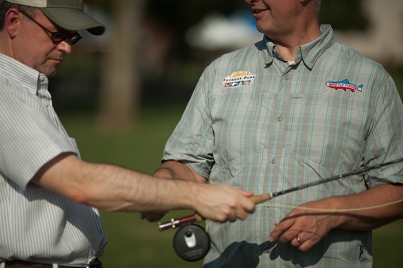 Participants in a WKU fly fishing course are preparing for an upcoming trip to Montana.
