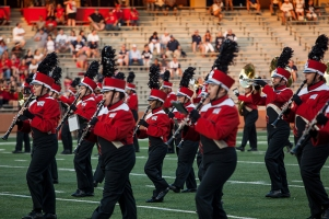 The Big Red Marching Band performed at the WKU vs. Rice game on Sept. 1.