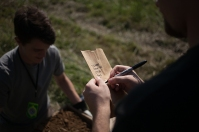 WKU students participated in an archaeological survey Sept. 9 at Dugas Community Park in Scottsville.