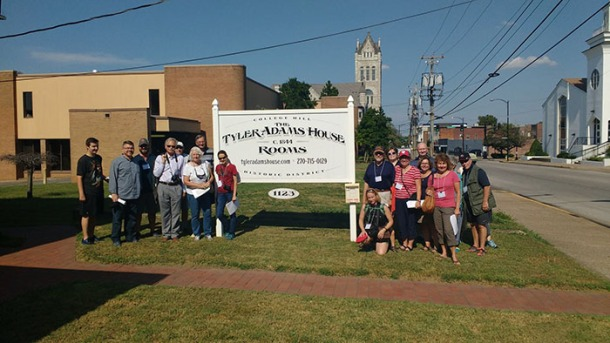 Participants in the International Society for Landscape, Place, and Material Culture's (ISLPMC) annual conference visited the Tyler Adams House on State Street in Bowling Green. WKU hosted the group's meeting Sept. 14-17.