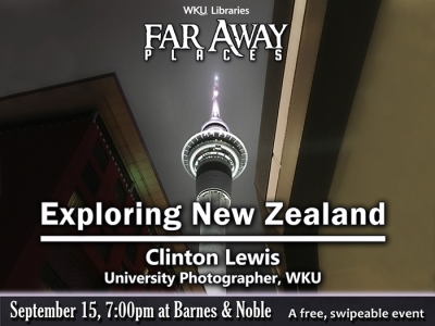 "Clinton Lewis will present ""Finding New Zealand"" on Sept. 15."