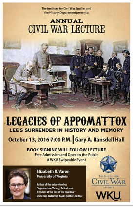 WKU's annual Civil War lecture will be presented Oct. 13.